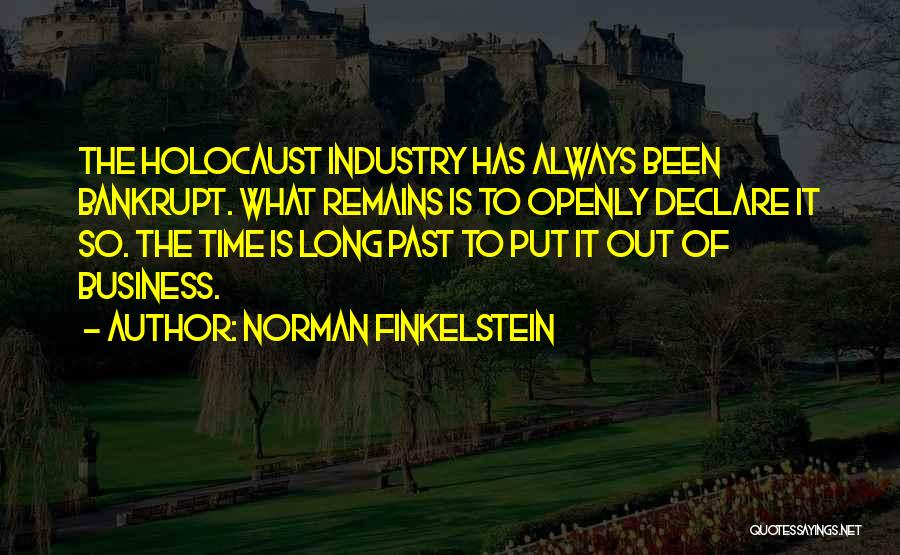Time Has Past Quotes By Norman Finkelstein