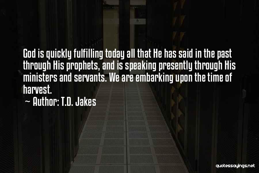 Time Has Past Quotes By T.D. Jakes