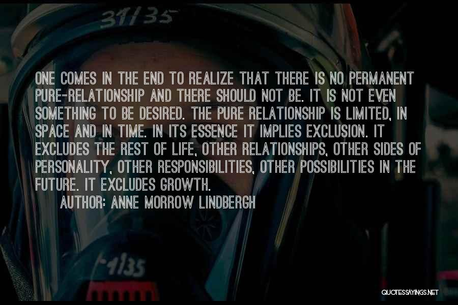 Time In Relationships Quotes By Anne Morrow Lindbergh