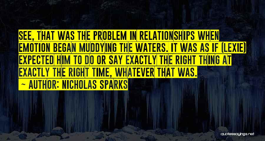 Time In Relationships Quotes By Nicholas Sparks