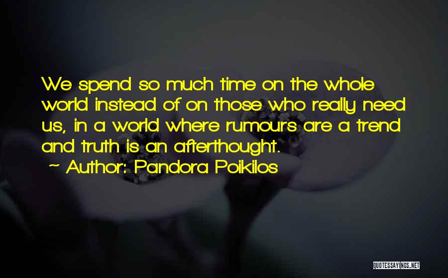 Time In Relationships Quotes By Pandora Poikilos