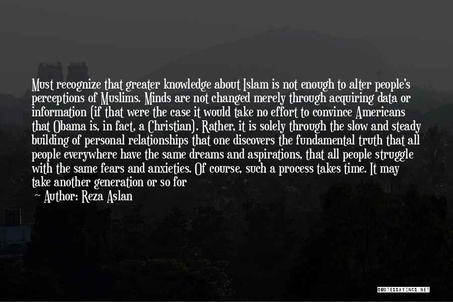 Time In Relationships Quotes By Reza Aslan