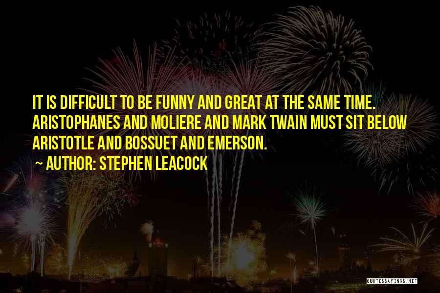 Time Is Funny Quotes By Stephen Leacock