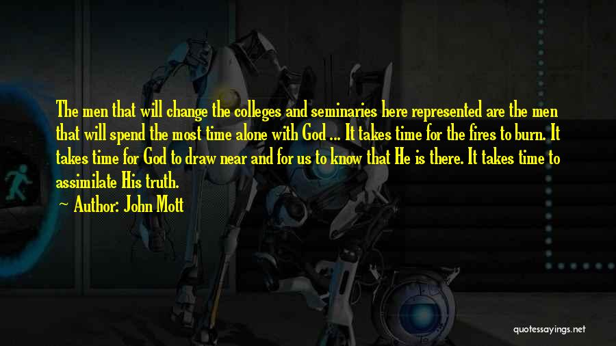 Time Is Near Quotes By John Mott