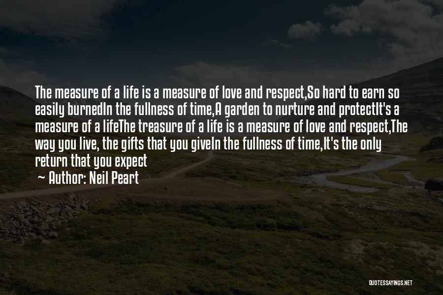 Time Is Not A Measure Of Love Quotes By Neil Peart