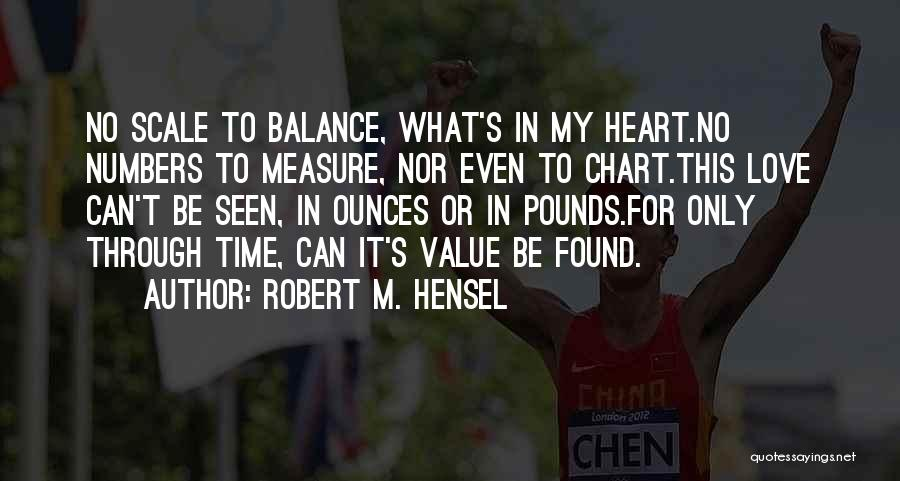 Time Is Not A Measure Of Love Quotes By Robert M. Hensel