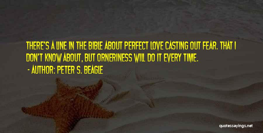 Time Love Bible Quotes By Peter S. Beagle