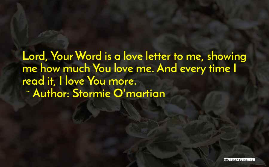 Time Love Bible Quotes By Stormie O'martian