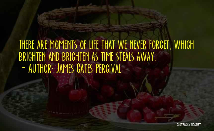 Time Never Quotes By James Gates Percival