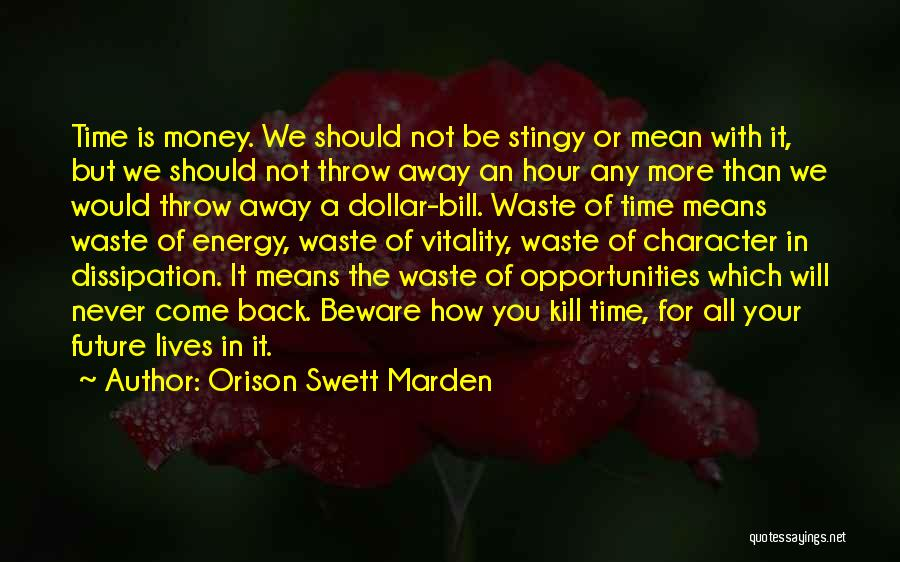Time Never Quotes By Orison Swett Marden