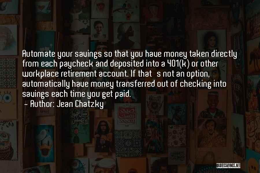 Time Savings Quotes By Jean Chatzky