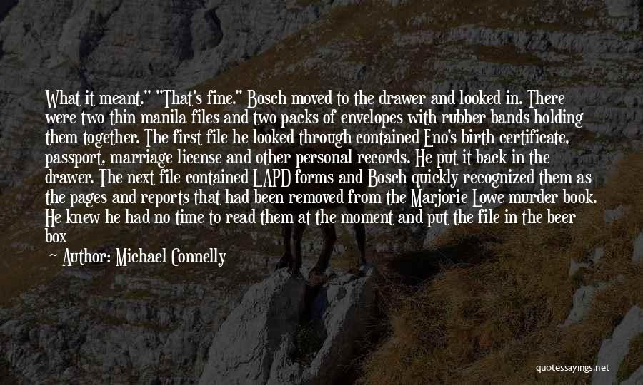 Time Savings Quotes By Michael Connelly