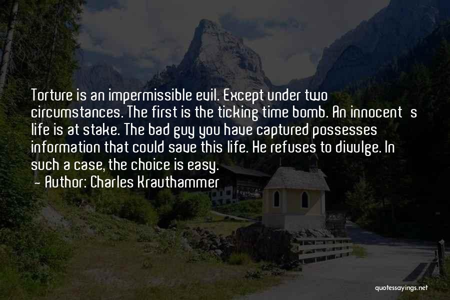 Time Ticking Quotes By Charles Krauthammer