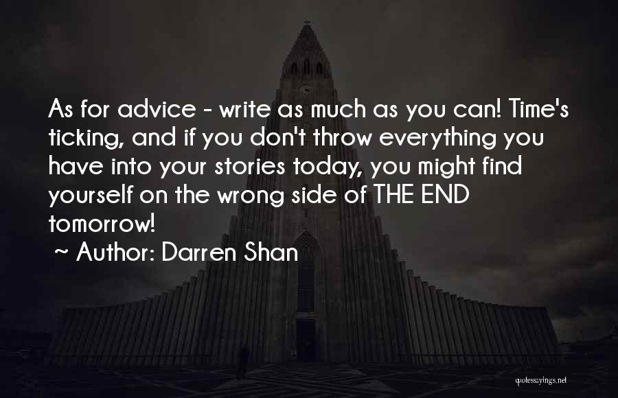 Time Ticking Quotes By Darren Shan