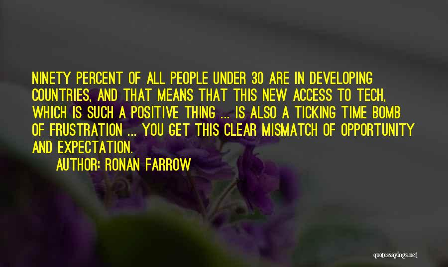 Time Ticking Quotes By Ronan Farrow
