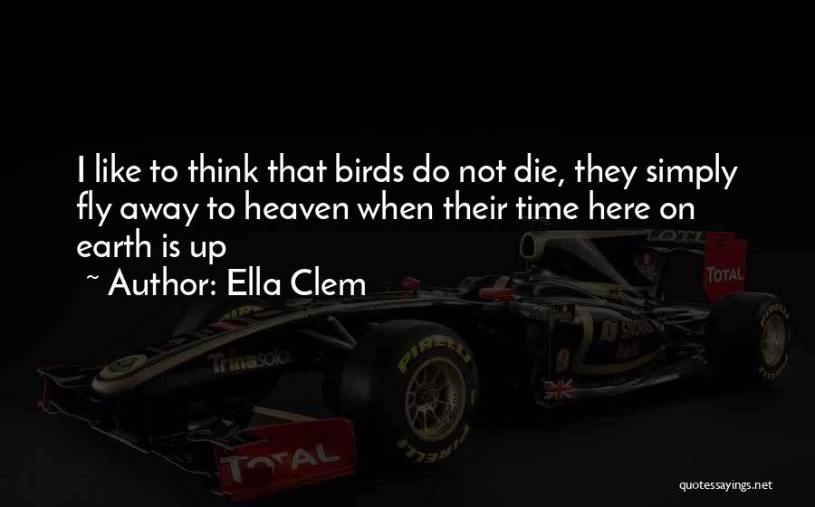 Time To Fly Away Quotes By Ella Clem