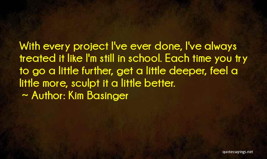 Time To Get It Done Quotes By Kim Basinger