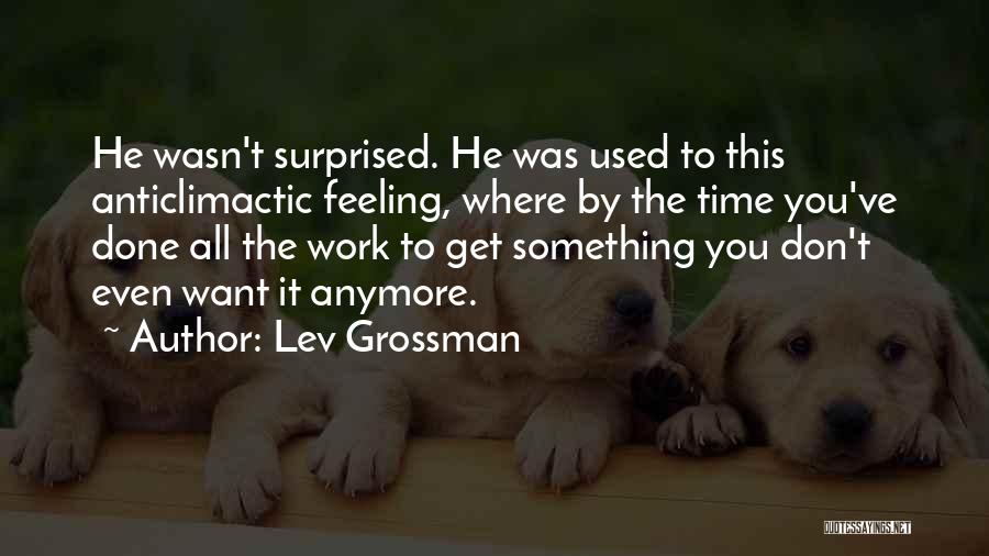 Time To Get It Done Quotes By Lev Grossman