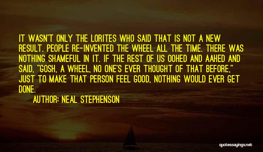 Time To Get It Done Quotes By Neal Stephenson
