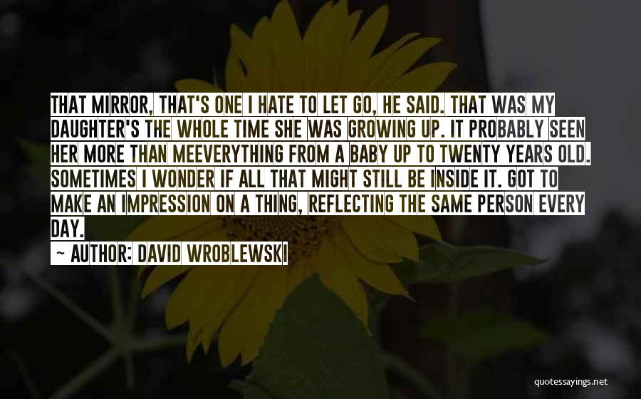 Time To Let Her Go Quotes By David Wroblewski