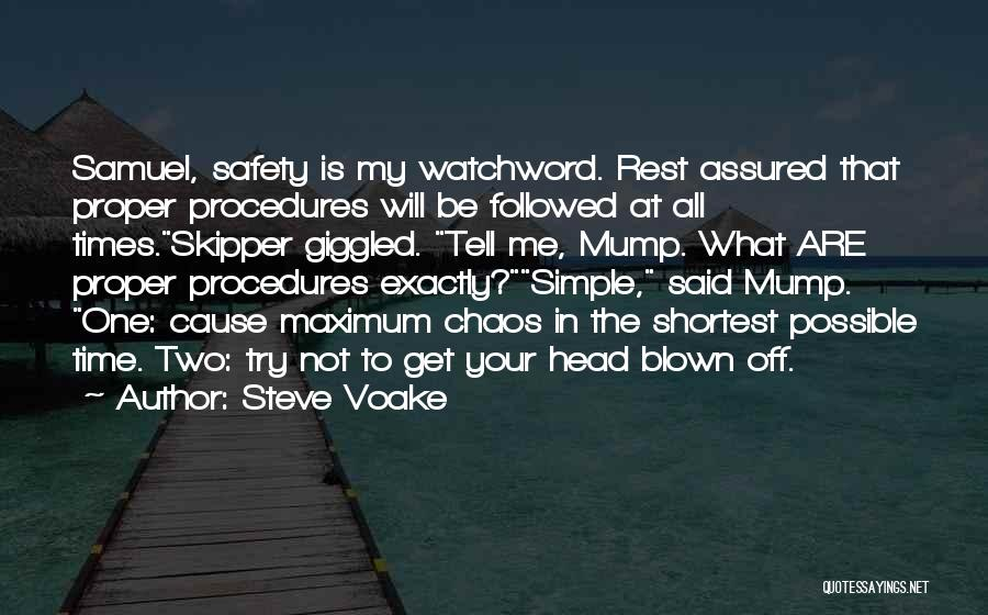 Time To Rest Quotes By Steve Voake