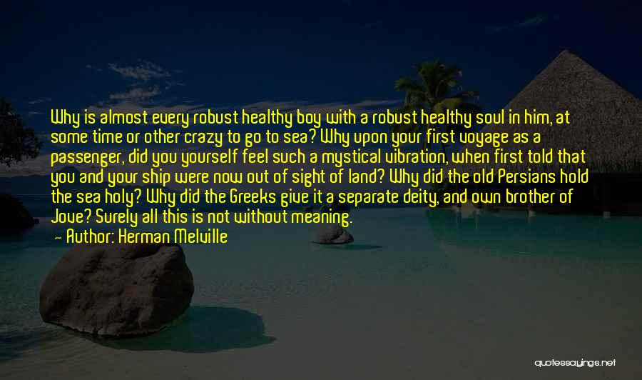 Time With Meaning Quotes By Herman Melville