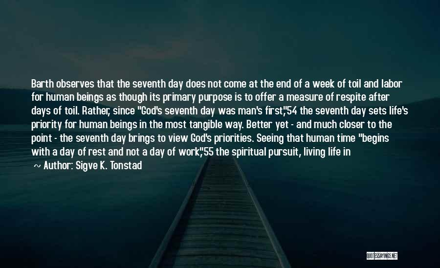 Time With Meaning Quotes By Sigve K. Tonstad