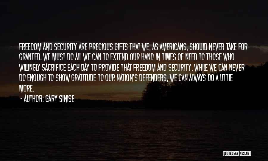 Times Of Need Quotes By Gary Sinise