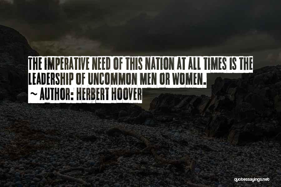 Times Of Need Quotes By Herbert Hoover