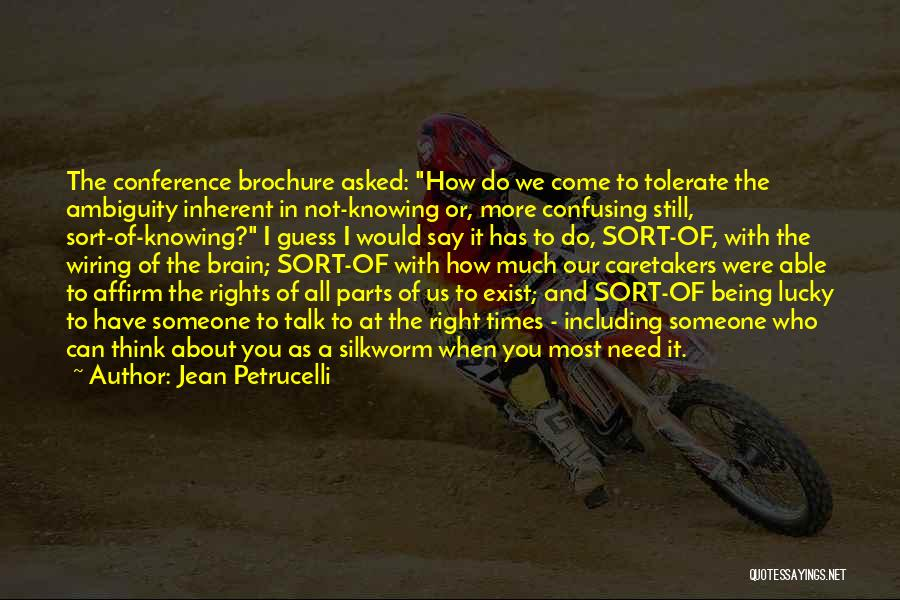 Times Of Need Quotes By Jean Petrucelli