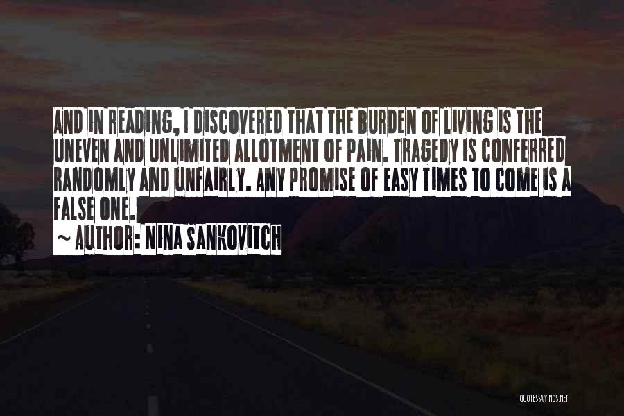 Times Of Tragedy Quotes By Nina Sankovitch