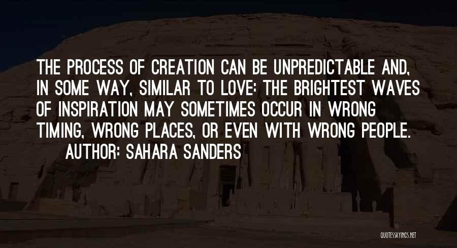 Timing Is Wrong Quotes By Sahara Sanders