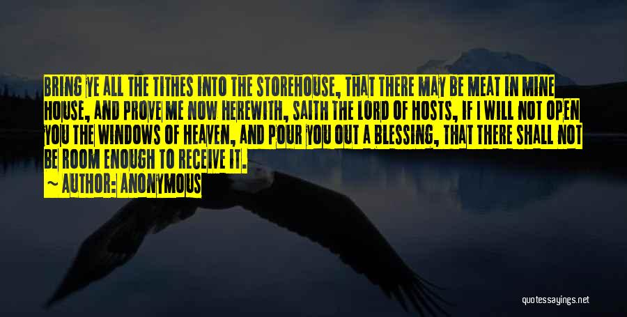 Tithes Quotes By Anonymous