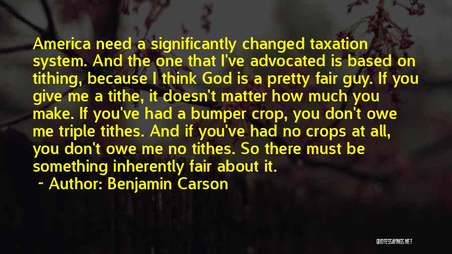Tithes Quotes By Benjamin Carson