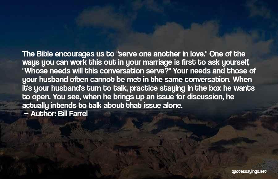 To Husband Love Quotes By Bill Farrel