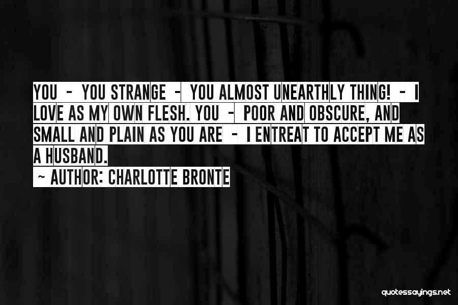 To Husband Love Quotes By Charlotte Bronte