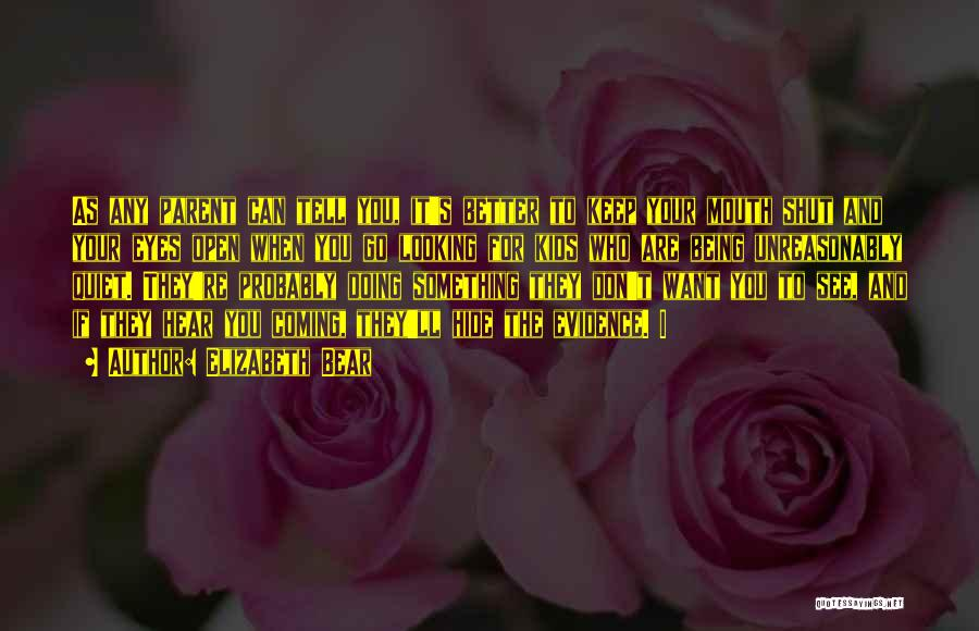 To Keep Quiet Quotes By Elizabeth Bear