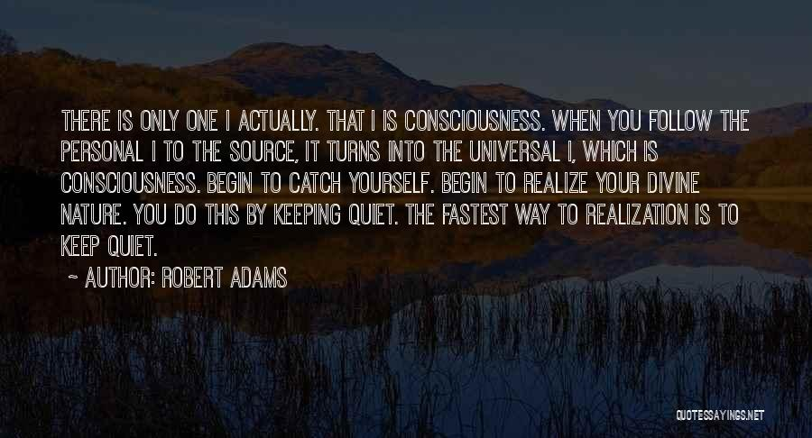 To Keep Quiet Quotes By Robert Adams