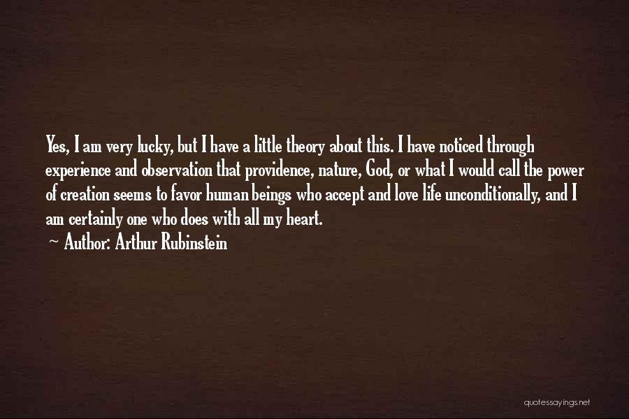 To Love Someone Unconditionally Quotes By Arthur Rubinstein