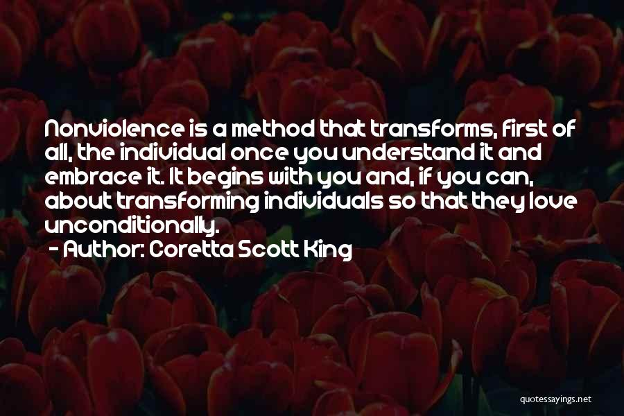 To Love Someone Unconditionally Quotes By Coretta Scott King