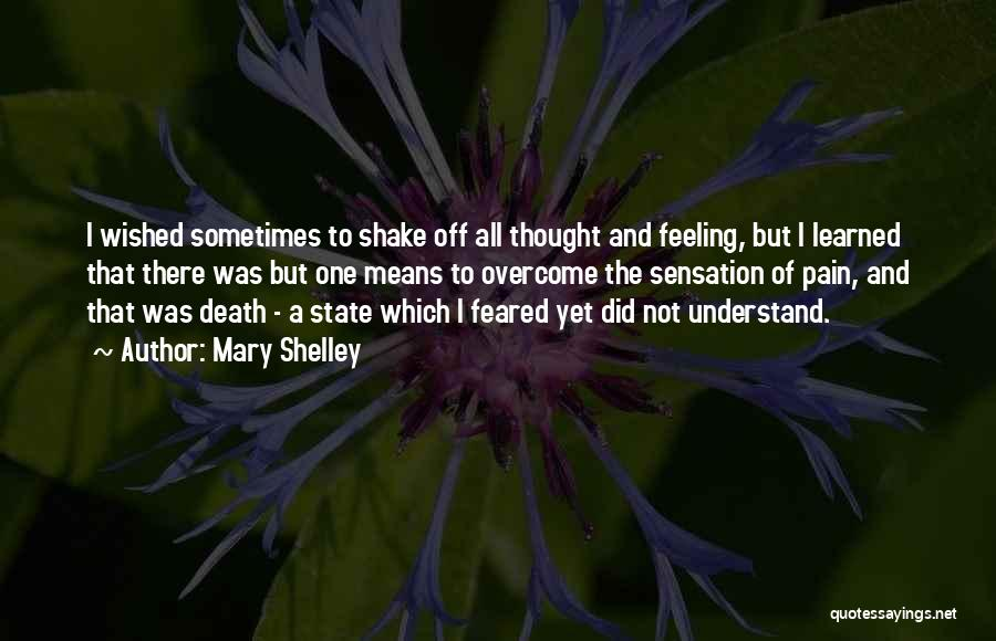 To Overcome Pain Quotes By Mary Shelley