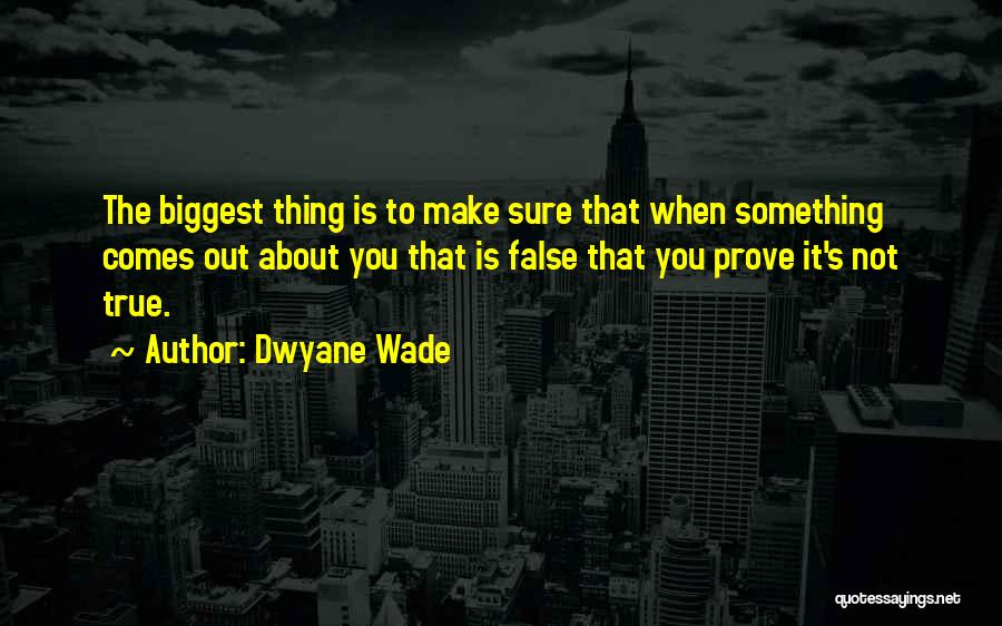 To Prove Something Quotes By Dwyane Wade