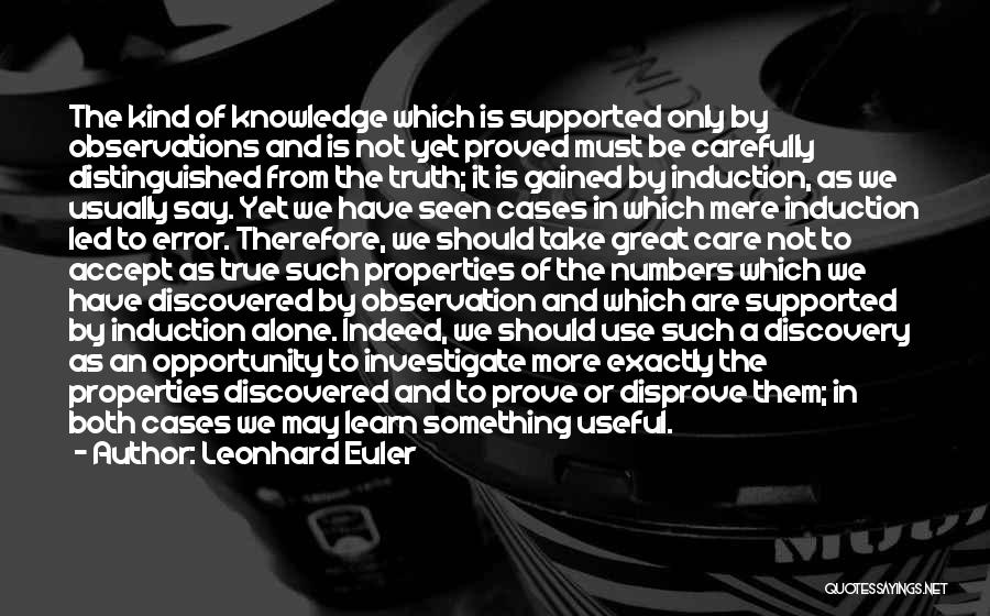 To Prove Something Quotes By Leonhard Euler