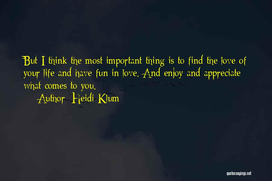 To Think Positive Quotes By Heidi Klum