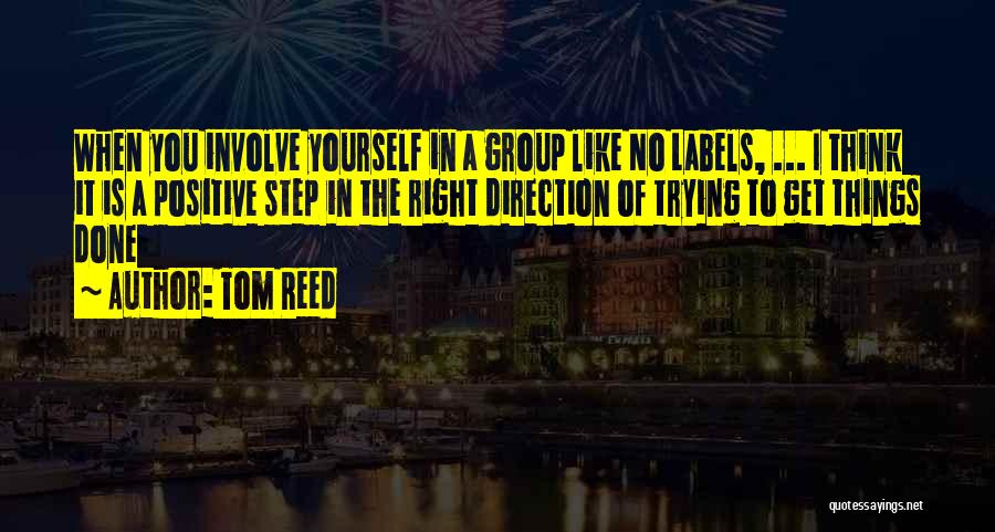 To Think Positive Quotes By Tom Reed