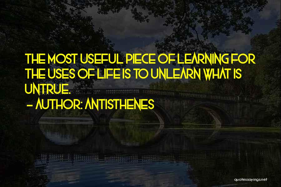 To Unlearn Quotes By Antisthenes
