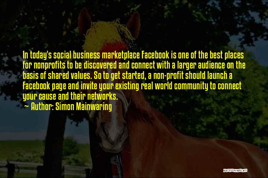 Today Facebook Quotes By Simon Mainwaring