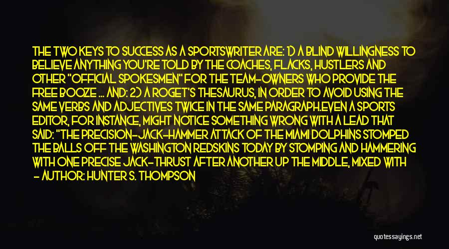 Today Funny Quotes By Hunter S. Thompson