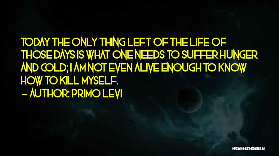 Today's One Of Those Days Quotes By Primo Levi