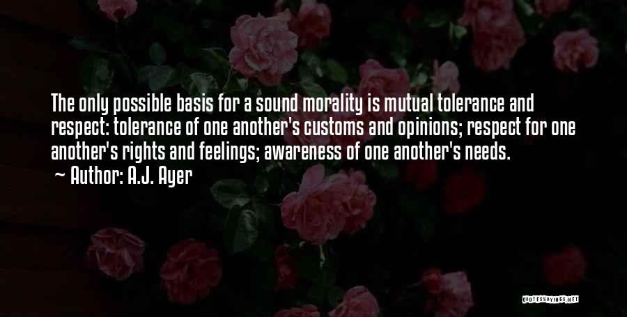 Tolerance And Respect Quotes By A.J. Ayer